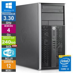 PC HP Pro 6300 MT Core i3-3220 3.30GHz 4Go/240Go SSD Wifi W10