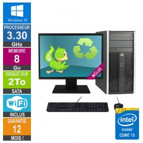 PC HP Pro 6300 MT Core i3-3220 3.30GHz 8Go/2To Wifi W10 + Ecran 19