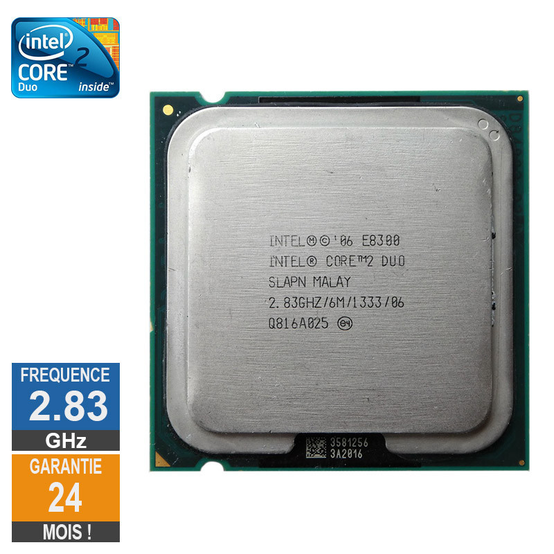 CPU Intel Core 2 Duo E8300 2.83GHz...