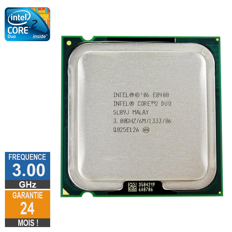 CPU Intel Core 2 Duo E8400 3GHz SLB9J...