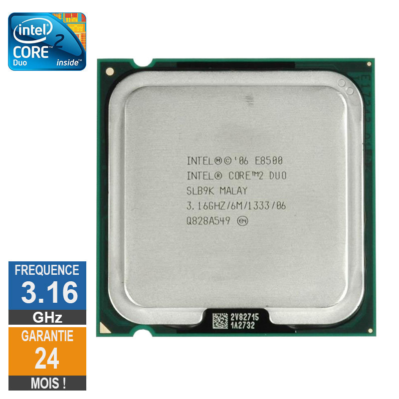Processeur Intel Core 2 Duo E8500...