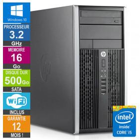 PC HP Pro 6300 MT Core i5-3470 3.20GHz 16Go/500Go Wifi W10