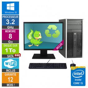 PC HP Pro 6300 MT Core i5-3470 3.20GHz 8Go/1To SSD Wifi W10 + Ecran 24