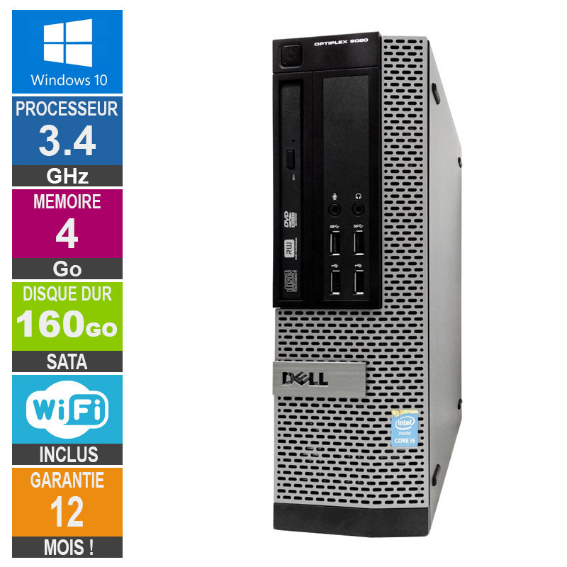 PC Dell Optiplex 9020 SFF Core i5-4670 3 40GHz 4GB/160GB Wifi W10