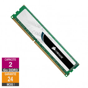 Barrette Mémoire 2Go RAM DDR3 Corsair CMV4GX3M2A1333C9 DIMM PC3-10600U