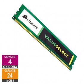 Barrette Mémoire 4Go RAM DDR3 Corsair CMV4GX3M1A1333C9 DIMM PC3-10600U