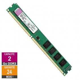 Barrette Mémoire 2Go RAM DDR3 Kingston KVR1333D3N9/2G LP DIMM PC3-10600U