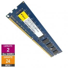 Barrette Mémoire 2Go RAM DDR3 Elixir M2F2G64CB88B7N-CG DIMM PC3-10600U