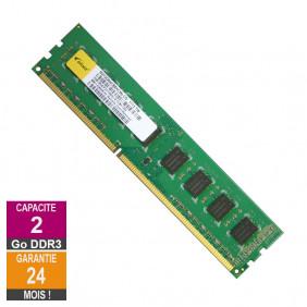 Barrette Mémoire 2Go RAM DDR3 Elixir M2Y2G64CB8HC5N-CG DIMM PC3-10600U 2Rx8