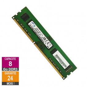 Barrette Mémoire 8Go RAM DDR3 Samsung M378B1G73QH0-CK0 DIMM PC3-12800U
