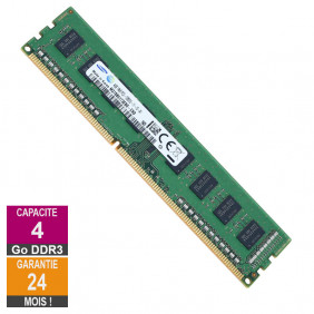 Barrette Mémoire 4Go RAM DDR3 Samsung M378B5173EB0-CK0 DIMM PC3-12800U 1Rx8