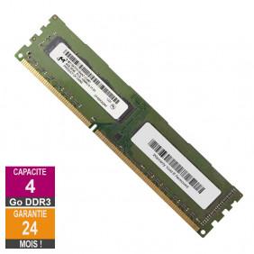 Barrette Mémoire 4Go RAM DDR3 Micron MT16KTF51264AZ-1G4M1 DIMM PC3L-10600U