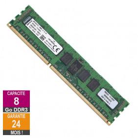 Barrette Mémoire 8Go RAM DDR3 Kingston KVR13R9D8/8 DIMM PC3-10600R