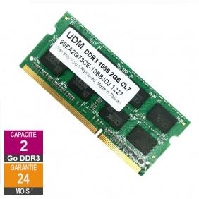 Barrette Mémoire 2Go RAM DDR3 UDM 96EA2G73CE-10BBJDJ SO-DIMM PC3-8500S