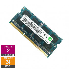 Barrette Mémoire 2Go RAM DDR3 Ramaxel RMT1970ED48E8F-1066 SO-DIMM PC3-8500S