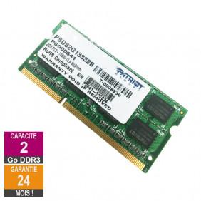 Barrette Mémoire 2Go RAM DDR3 Patriot Memory PSD32G13332S SO-DIMM PC3-10600S