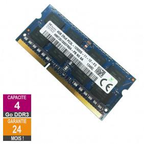 Barrette Mémoire 4Go RAM DDR3 Hynix HMT351S6EFR8A-PB SO-DIMM PC3L-12800S 2Rx8 641369-001