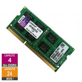Barrette Mémoire 4Go RAM DDR3 Kingston KVR1066D3S7/4G SO-DIMM PC3-8500S