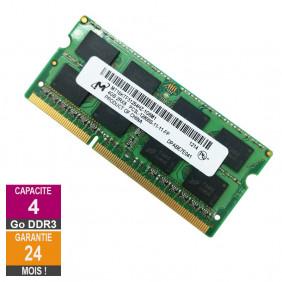 Barrette Mémoire 4Go RAM DDR3 Micron MT16KTF51264HZ-1G6M1 SO-DIMM PC3L-12800S 2Rx8 637233-652