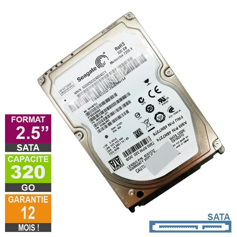 Hard Drive 320GB SATA 2 5 Seagate ST9320423AS 7200rpm 16MB