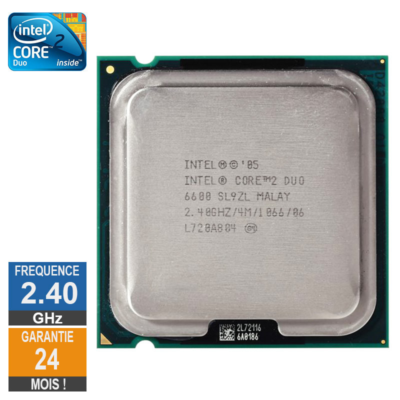 Processeur Intel Core 2 Duo E6600...