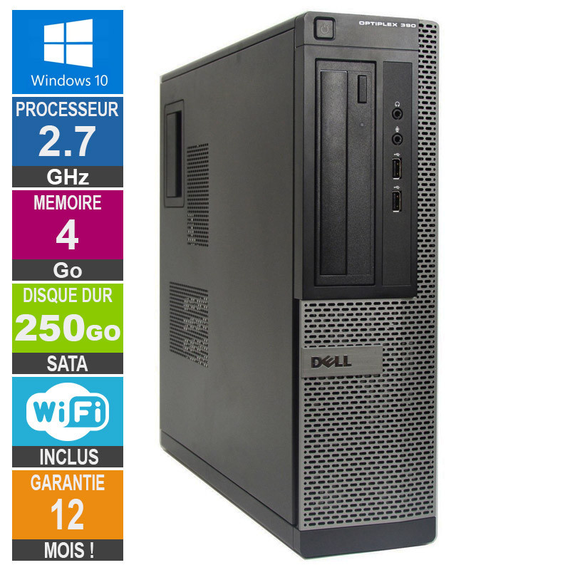 PC Dell Optiplex 390 DT G630 2 70GHz 4GB/250GB Wifi W10