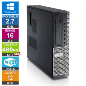 PC Dell Optiplex 790 DT G630 2.70GHz 16Go/480Go SSD Wifi W10
