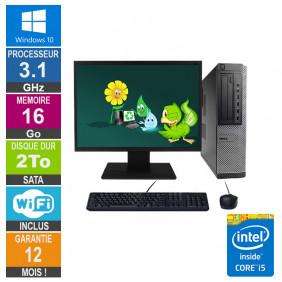PC Dell Optiplex 790 DT I5-2400 3.10GHz 16Go/2To Wifi W10 + Ecran 20