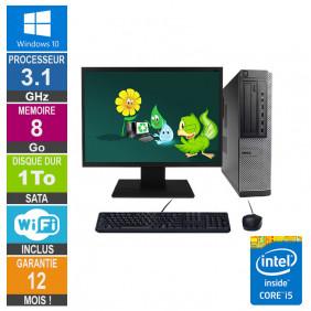 PC Dell Optiplex 790 DT I5-2400 3.10GHz 8Go/1To Wifi W10 + Ecran 24