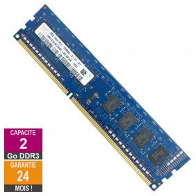 Barrette Mémoire 2Go RAM DDR3 Hynix HMT325U6CFR8C-H9 DIMM PC3-10600U