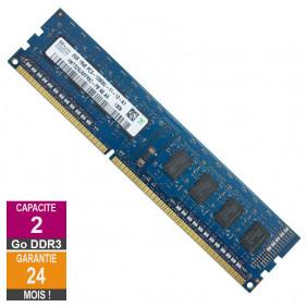 Barrette Mémoire 2Go RAM DDR3 Hynix HMT325U6EFR8C-PB DIMM PC3-12800U