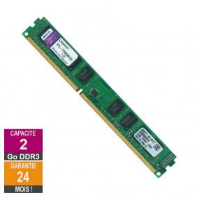 Barrette Mémoire 2Go RAM DDR3 Kingston KTL-TCM58/2G LP DIMM PC3-8500U