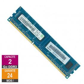 Barrette Mémoire 2Go RAM DDR3 Ramaxel RMR1870KF48E8F-1333 DIMM PC3-10600U
