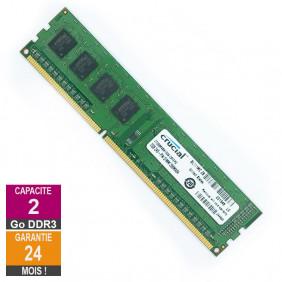 Barrette Mémoire 2Go RAM DDR3 Crucial CT25664BA1339.C8FER2 DIMM PC3-10600U