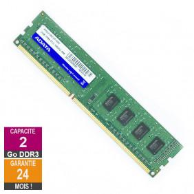 Barrette Mémoire 2Go RAM DDR3 Adata AM2U139C2P168V DIMM PC3-10600U