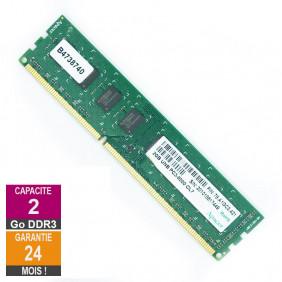Barrette Mémoire 2Go RAM DDR3 Apacer 78.A1GC3.421 DIMM PC3-8500U