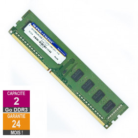 Barrette Mémoire 2Go RAM DDR3 Super Talent W1066UA2GS DIMM PC3-8500U