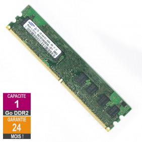 Barrette Mémoire 1Go RAM DDR2 Samsung M378T2863EHS-CF7 DIMM PC2-6400U 1Rx8