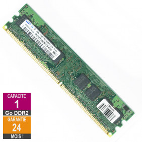 Barrette Mémoire 1Go RAM DDR2 Samsung M378T2863RZS-CE6 DIMM PC2-5300U 1Rx8