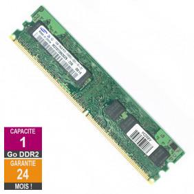 Barrette Mémoire 1Go RAM DDR2 Samsung M378T2863QZS-CE6 DIMM PC2-5300U 1Rx8