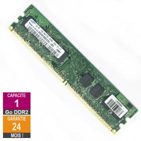 Barrette Mémoire 1Go RAM DDR2 Samsung M378T2863DZS-CE6 DIMM PC2-5300U 1Rx8