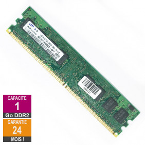 Barrette Mémoire 1Go RAM DDR2 Samsung M378T2863QZS-CF7 DIMM PC2-6400U 1Rx8