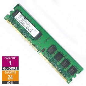 Barrette Mémoire 1Go RAM DDR2 Elpida EBE11UD8AJWA-6E-E DIMM PC2-5300U 2Rx8