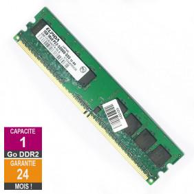 Barrette Mémoire 1Go RAM DDR2 Elpida EBE10UE8ACFA-6E-E DIMM PC2-5300U 1Rx8