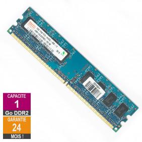 Barrette Mémoire 1Go RAM DDR2 Hynix HMP112U6EFR8C-S6 DIMM PC2-6400U 1Rx8