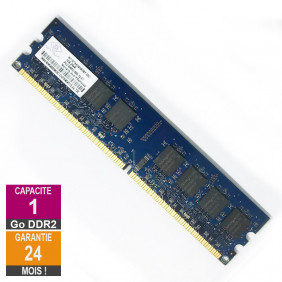 Barrette Mémoire 1Go RAM DDR2 Nanya NT1GT64U8HB0BY-25C DIMM PC2-6400U 2Rx8