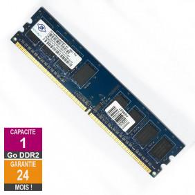 Barrette Mémoire 1Go RAM DDR2 Nanya NT1GT64U88D0BY-3C DIMM PC2-5300U 1Rx8