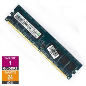 Barrette Mémoire 1Go RAM DDR2 Ramaxel RML1520EC48D7W-800 DIMM PC2-6400U 1Rx8