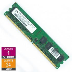 RAM Memory 1GB RAM DDR2 Micron MT16HTF12864AY-667D4 DIMM PC2-5300U 2Rx8