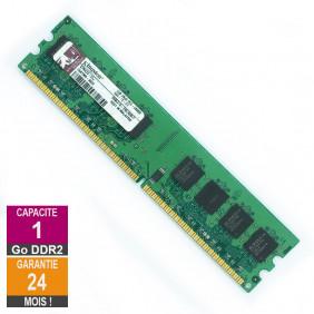 Barrette Mémoire 1Go RAM DDR2 Kingston KPN424-ELJ DIMM PC2-5300U 2Rx8
